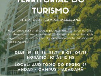 Mini curso Planejamento Territorial do Turismo acontece no Campus Maracanã