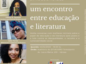 Evento sobre educação e literatura a partir da perspectiva da inclusão de jovens negros no DTUR